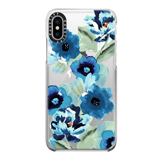 iPhone X Cases - painted graphic floral