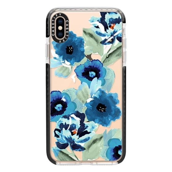 iPhone XS Max Cases - painted graphic floral