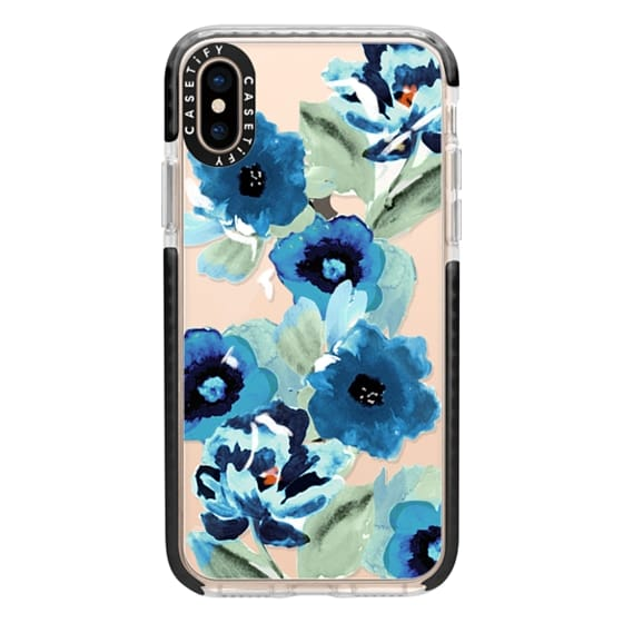 iPhone XS Cases - painted graphic floral