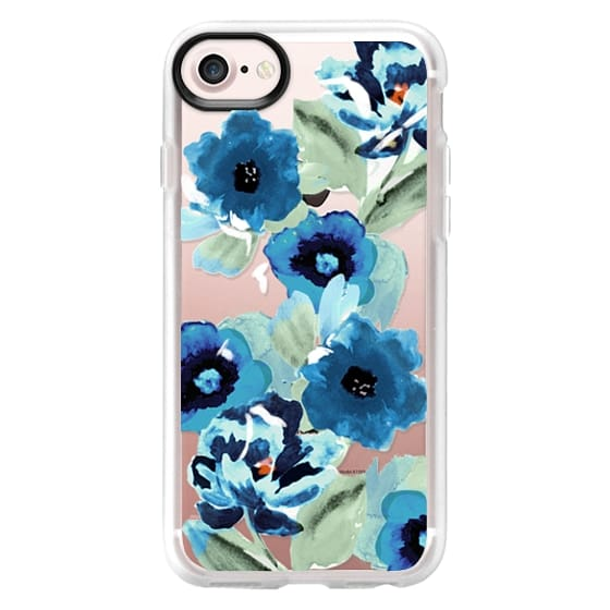 iPhone 4 Cases - painted graphic floral