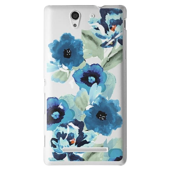 Sony C3 Cases - painted graphic floral