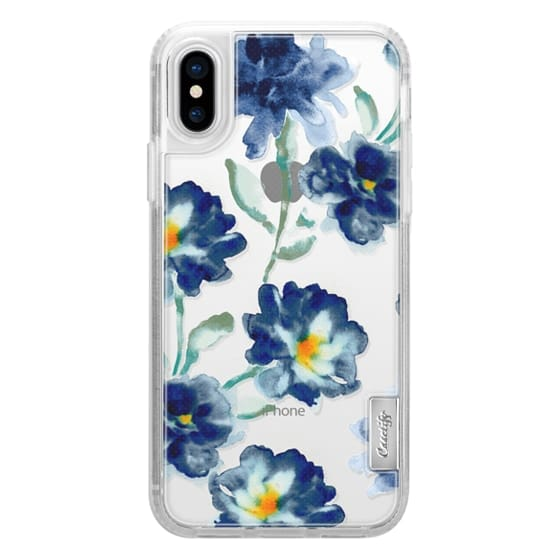 iPhone X Cases - Blue Watercolor Clear Iphone case