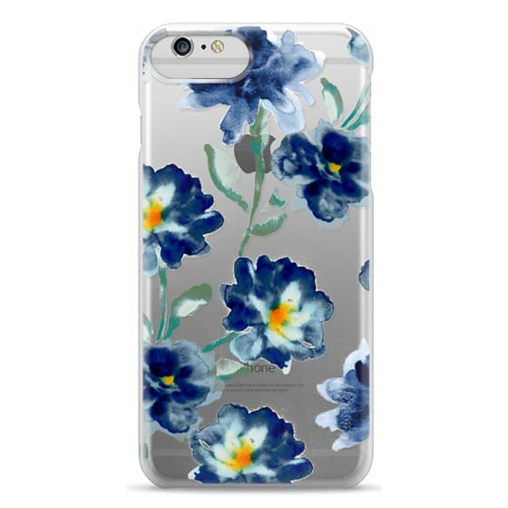 iPhone 6 Plus Cases - Blue Watercolor Clear Iphone case