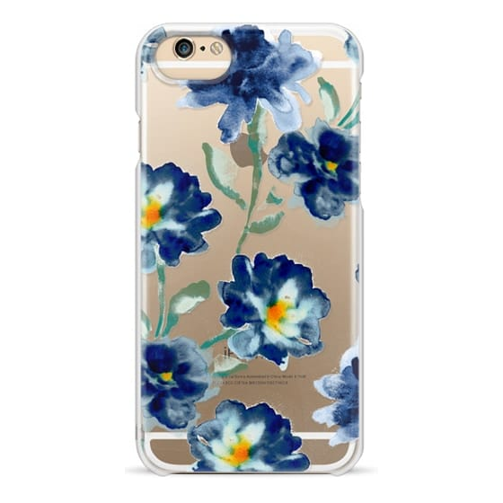 iPhone 6 Cases - Blue Watercolor Clear Iphone case