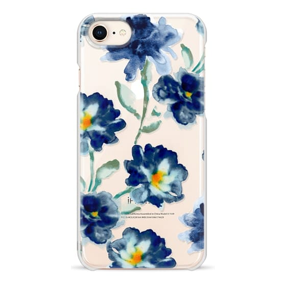 iPhone 8 Cases - Blue Watercolor Clear Iphone case