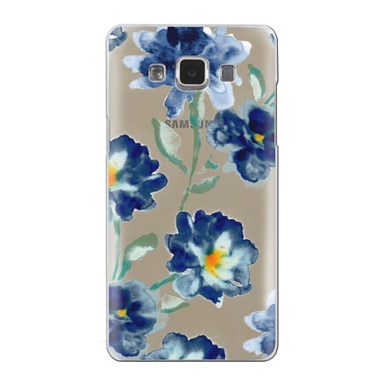 Samsung Galaxy A5 Cases - Blue Watercolor Clear Iphone case