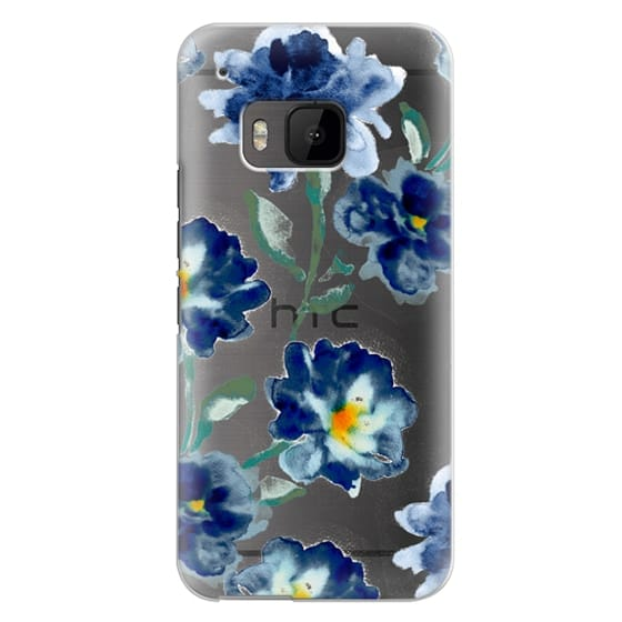 Htc One M9 Cases - Blue Watercolor Clear Iphone case