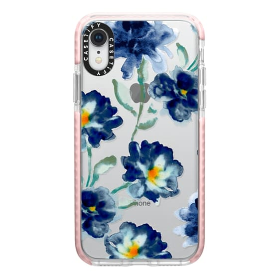 iPhone XR Cases - Blue Watercolor Clear Iphone case