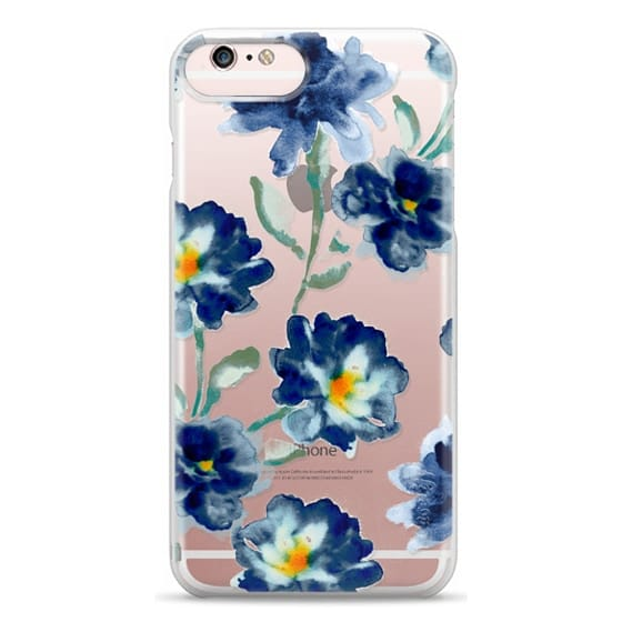 iPhone 6s Plus Cases - Blue Watercolor Clear Iphone case