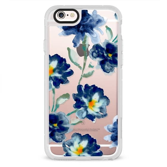 iPhone 4 Cases - Blue Watercolor Clear Iphone case