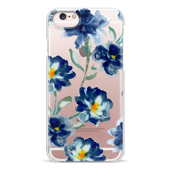 iPhone 6s Cases - Blue Watercolor Clear Iphone case