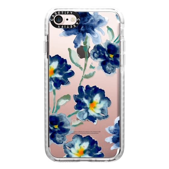 iPhone 7 Cases - Blue Watercolor Clear Iphone case