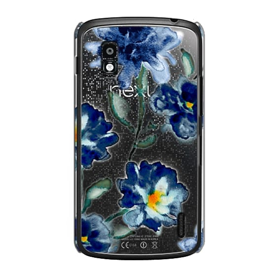 Nexus 4 Cases - Blue Watercolor Clear Iphone case