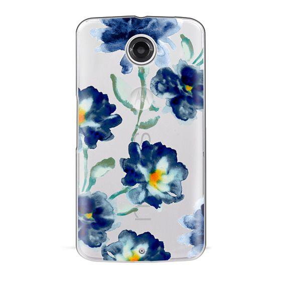 Nexus 6 Cases - Blue Watercolor Clear Iphone case