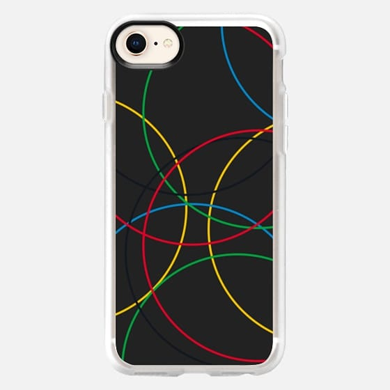 Olympic Rings Design in black - Snap Case