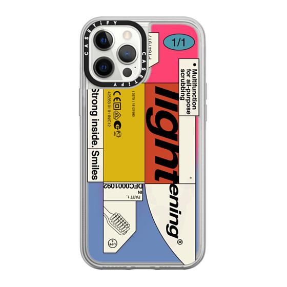 CASETiFY iPhone 12 Pro Max Neon Sand Liquid Case - Bleak Lightening