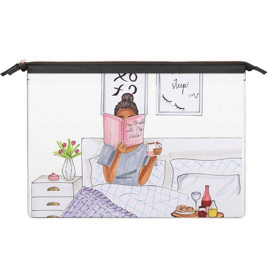MacBook Pro Touchbar 13 Sleeves - brunette breakfast- fashion illustration