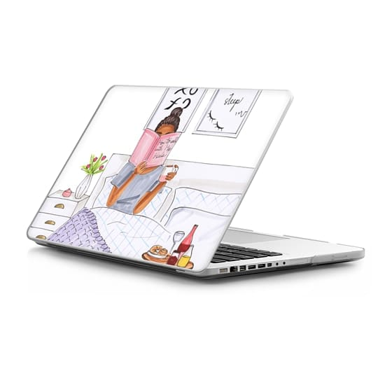 MacBook Pro 13 Sleeves - brunette breakfast- fashion illustration
