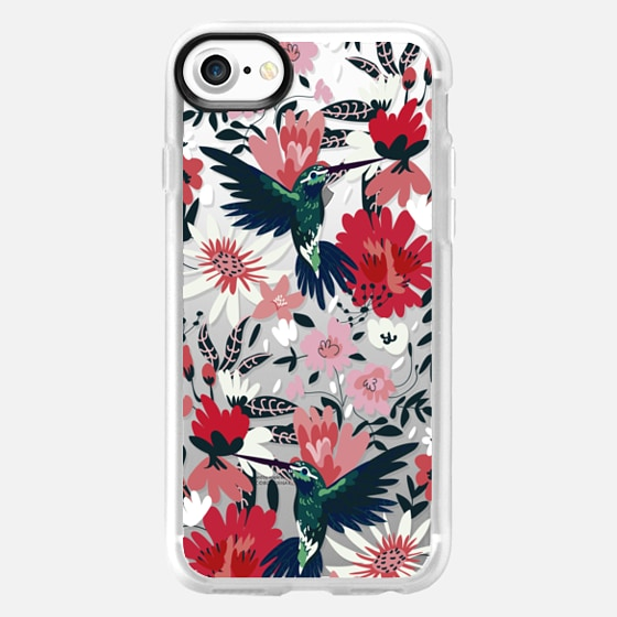 Hummingbird on Florals - Classic Grip Case