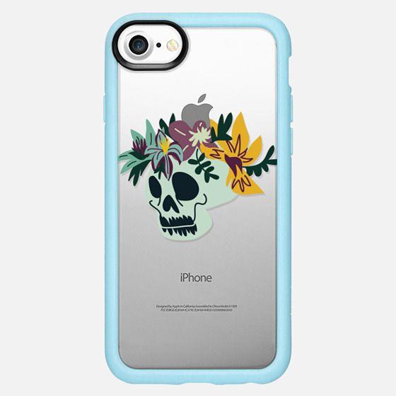 Skull Floral Crown - Snap Case