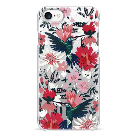 iPhone 7 Cases - Hummingbirds + Spring Florals