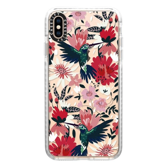 iPhone XS Max Cases - Hummingbirds + Spring Florals