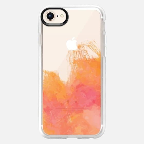 Pink and Orange Watercolor - Snap Case