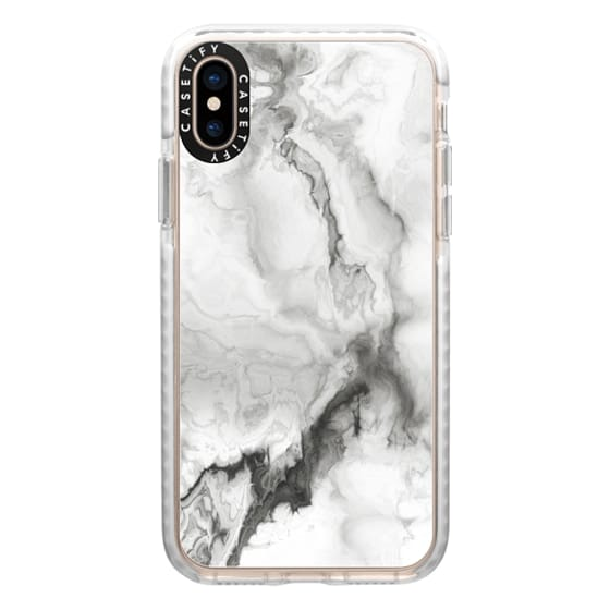 iPhone XS Cases - White Marble