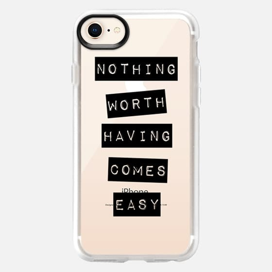 Nothing Worth Having Comes Easy - Snap Case