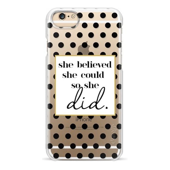 iPhone 7 Cases - She Believed she could so she Did