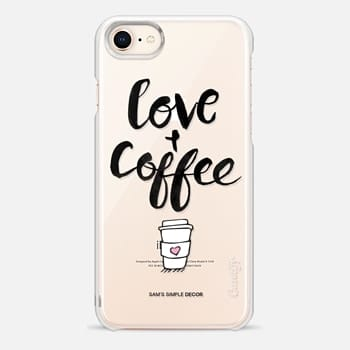 iPhone 8 Case Love and Coffee