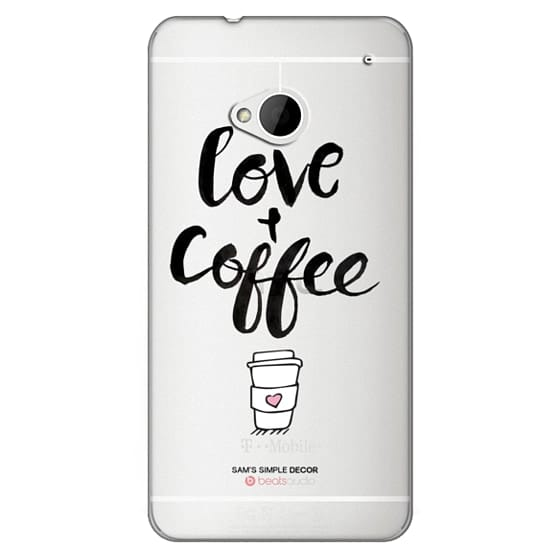 Htc One Cases - Love and Coffee