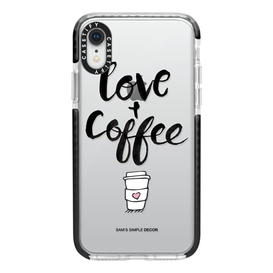 iPhone XR Cases - Love and Coffee