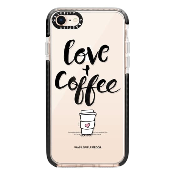 iPhone 8 Cases - Love and Coffee