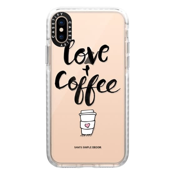 iPhone XS Cases - Love and Coffee