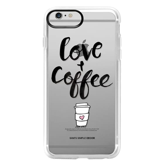 iPhone 6 Plus Cases - Love and Coffee