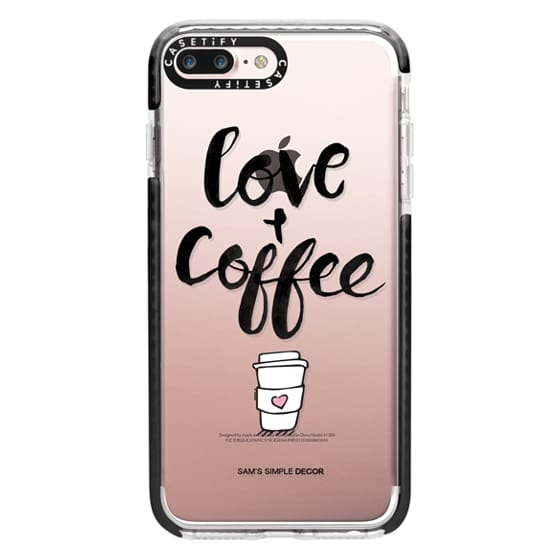 iPhone 7 Plus Cases - Love and Coffee