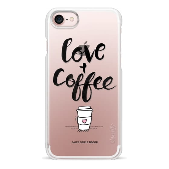 iPhone 7 Cases - Love and Coffee