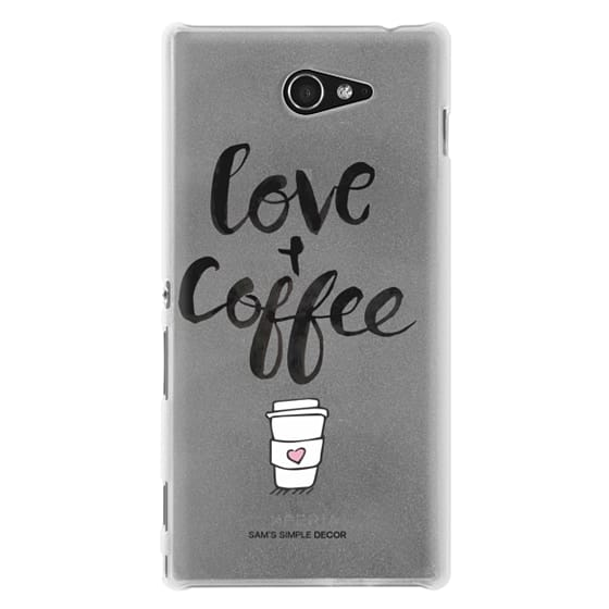 Sony M2 Cases - Love and Coffee