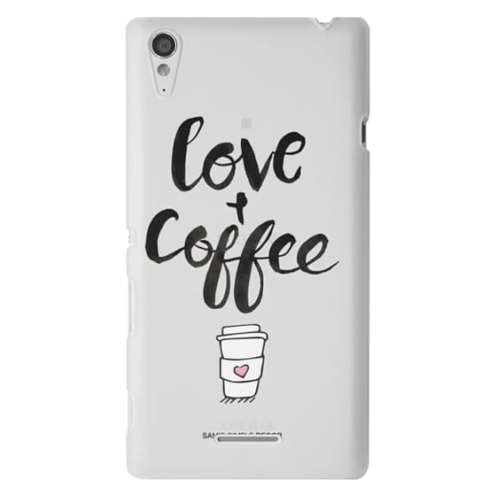 Sony T3 Cases - Love and Coffee