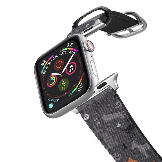 Apple Watch 42mm Bands - WOOF! - Orange&Black2