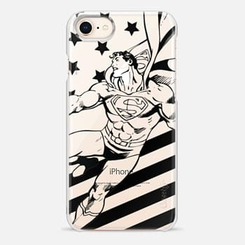 iPhone 8 Case Superman in Action B&W