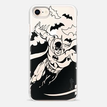 iPhone 8 Case Batman in Action B&W