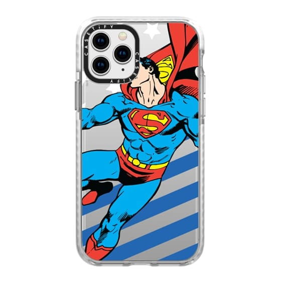 iPhone 11 Pro Cases - Superman in Action Color