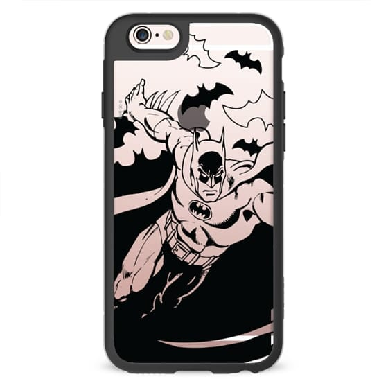iPhone 6s Cases - Batman in Action B&W