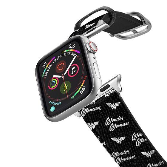 Apple Watch 38mm Bands - Wonder Woman Logo B&W Print Apple Watch Band