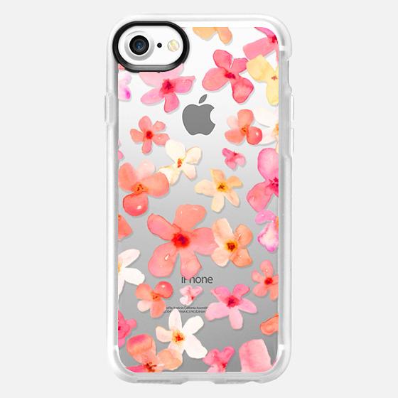 Spring Has Sprung Watercolor Floral Design - Wallet Case