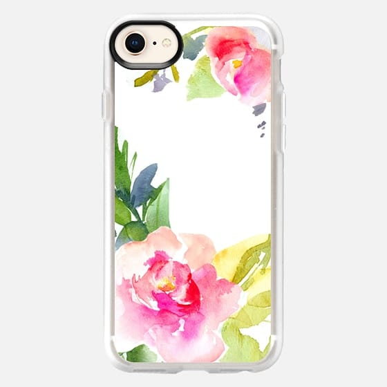 Wild Watercolor Fleur - Snap Case