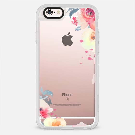Cute Watercolor Flower Iphone Case Red + Yellow