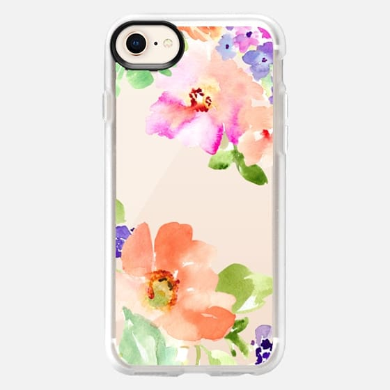Tropical Burst Watercolor Flowers - Snap Case